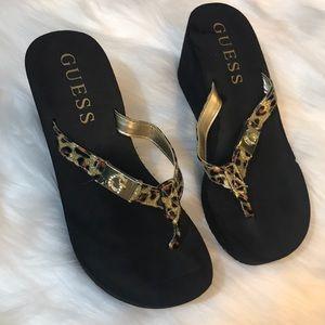 Guess foam wedge sandal
